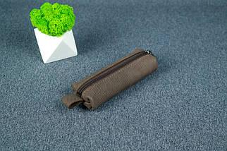 Ключниця на блискавці, Вінтажна шкіра, колір Шоколад, тиснення №4, фото 3