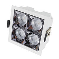 Светильник точечный LED HDL-DT 203/4*4W NW WH, фото 1
