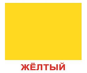 """Карточки большие русские с фактами """"Форма и цвет"""" 20шт, методика Глена Домана, в пак. 16,5*19,5см, Украина, ТМ"""
