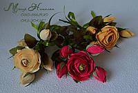 Розы с конфетами поштучные