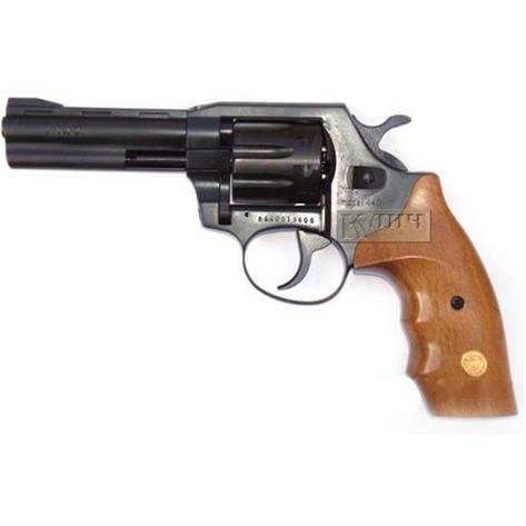 Револьвер під патрон Флобера Alfa 441, чорний, дерев'яна рукоятка, фото 2