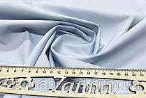 Однотонная джинсовая ткань голубого цвета