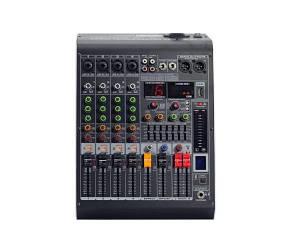 4all Audio MC-400D(350W) Микшерный пульт с усилителем 4+1, 2х350Вт.+48В.