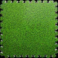 Пол пазл - модульное напольное покрытие 600x600x10мм зеленая трава