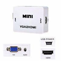 Перехідник конвертер відео HDMI to VGA (перетворювач сигналу)
