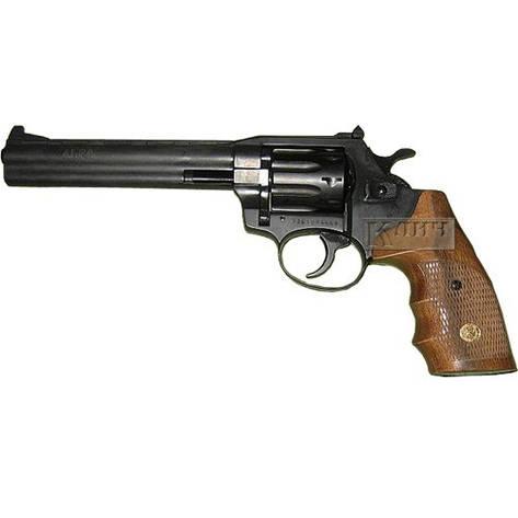 Револьвер под патрон Флобера Alfa 461, черный, деревянная рукоятка, фото 2