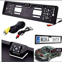 Камера заднього виду 4LED Black у рамці номери із захистом IP68