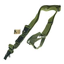 Ремінь збройовий триточковий брезентовий (стропа) Olive 5017