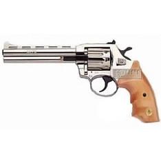 Револьвер под патрон Флобера Alfa 461, никелированный, деревянная рукоятка