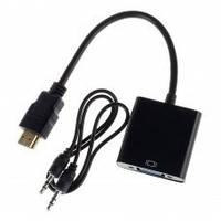 КОНВЕРТЕР HDMI TO VGA + 3.5 M/M + ( AUDIO CABLE )
