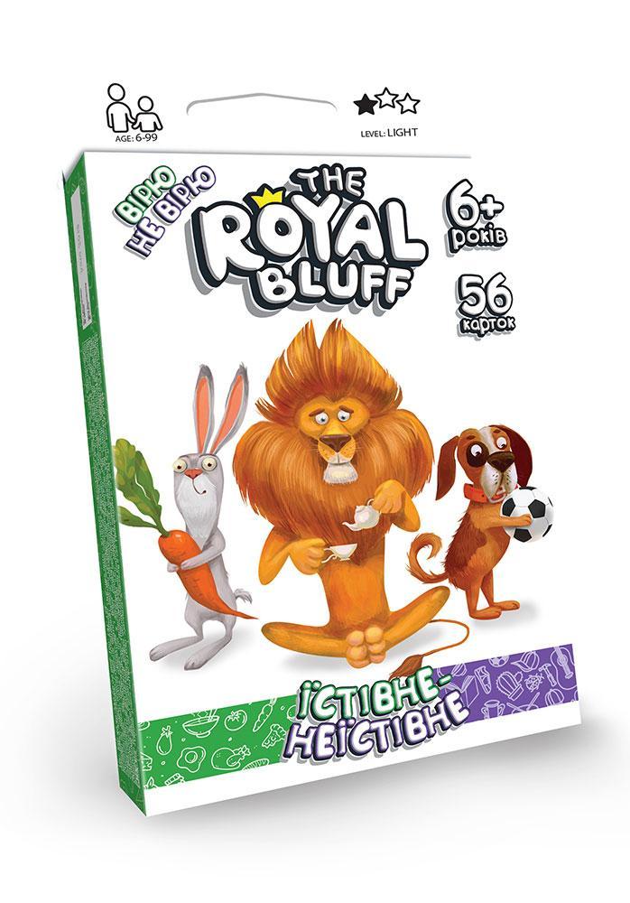 """Карточная игра """"The Royal Bluff"""" съедобное/несъедобное, укр., 42 карты, в кор.  (32шт)"""