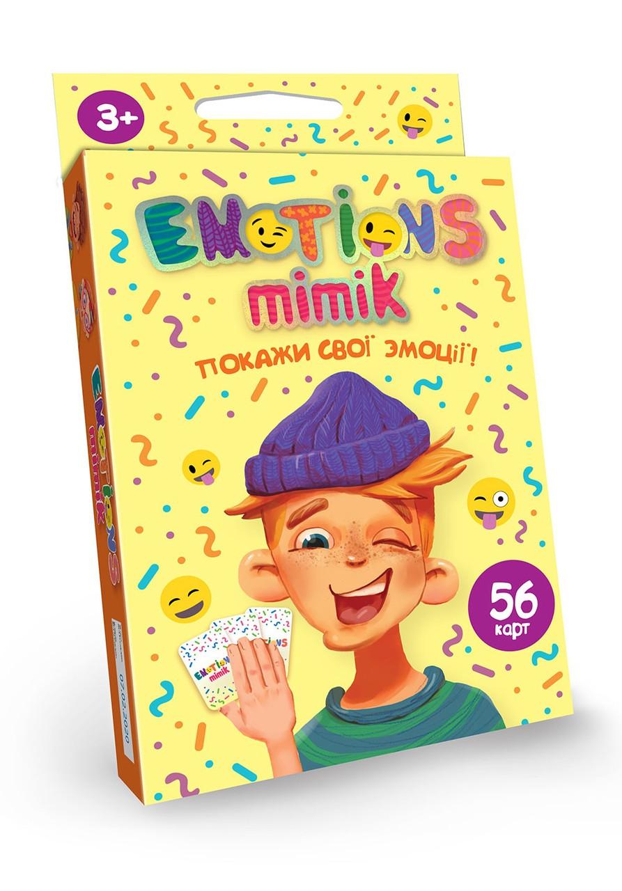 Карточная игра Emotions Mimik, укр., в кор. 9*13*2см (32шт)