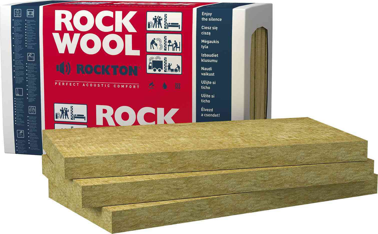Звукоизоляционные плиты Rockwool (акустик) — Rockton