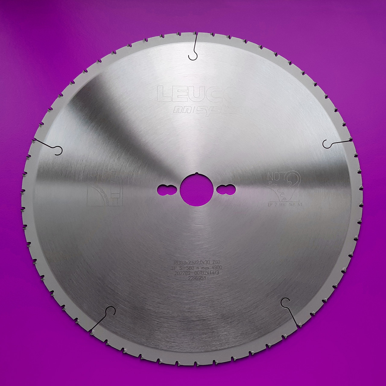 303x2,5/2,0x30 Z=60 Алмазний форматний пильний диск Leuco для різних плитних матеріалів