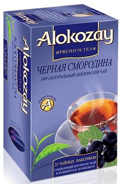 Чай черный Alokozay Черная смородина 25 пакетиков