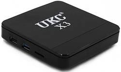 ТВ смарт приставка UKC Smart TV X3 MINI S905W, 4GB/ 32GB с Bluetooth