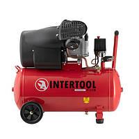 Компрессор 50 л, 2.23 кВт, 220 В, 10 атм, 354 л/мин, 2 цилиндра INTERTOOL PT-0004