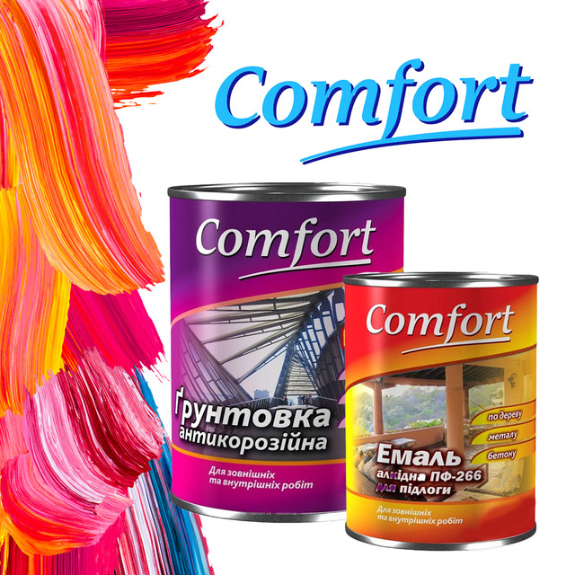 Comfort Home Краски, грунтовки для дерева и металла