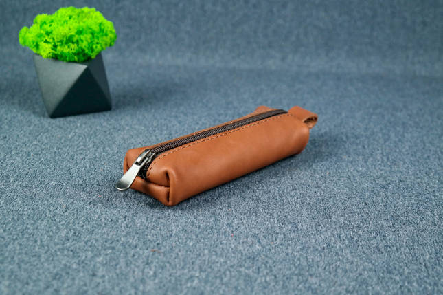 Ключница на молнии, кожа Итальянский краст, цвет Коричневый, фото 2