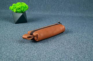 Ключница на молнии, кожа Итальянский краст, цвет Коричневый, фото 3