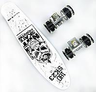 Пенни борд со светящимися колесами Best Board Череп