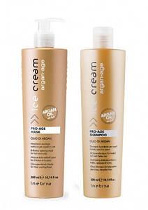 Набор с аргановым маслом для окрашенных волос Inebrya Ice Cream Pro Age Kit300/300 мл