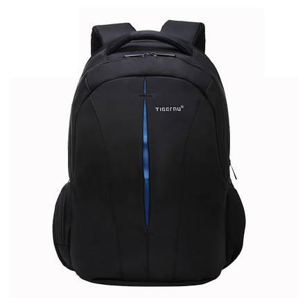 """Рюкзак городской TIGERNU T-B3105 +навесной замок, для ноутбука 15.6"""" Черный/ синий, фото 2"""