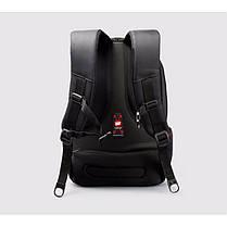"""Рюкзак городской TIGERNU T-B3105 +навесной замок, для ноутбука 15.6"""" Черный/ синий, фото 3"""