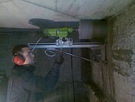 Отвір діаметром 302 мм на димохід твердопаливного котла методом безударного алмазного буріння свердління , фото 1
