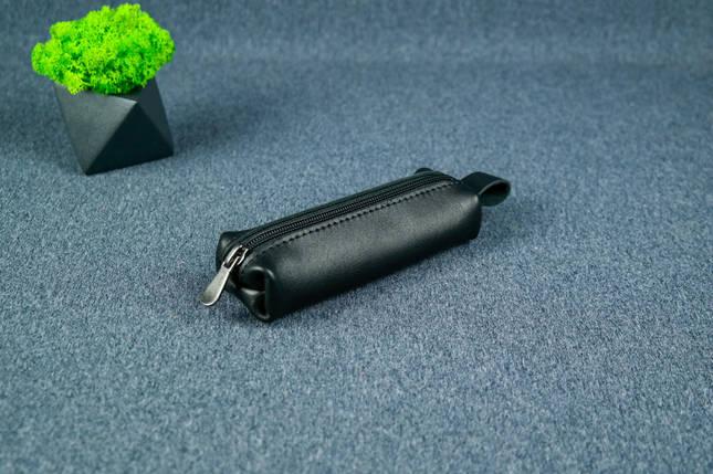 Ключница на молнии, Кожа с лицевым покрытием, цвет Черный, фото 2