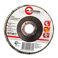 Диск шліфувальний пелюстковий 125х22мм, зерно K60 INTERTOOL BT-0206