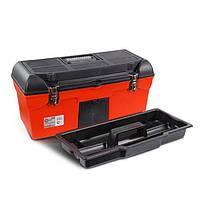 """Скринька для інструментів з металевими замками 24"""" 610x255x251 мм INTERTOOL BX-1123"""