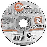 Диск зачисний по металу 115x6x22,2 мм INTERTOOL CT-4021