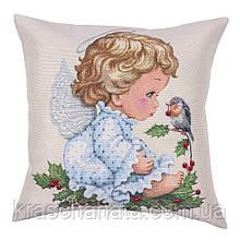 Наволочка гобеленовая односторонняя, Ангел, размер 45х45см, Эксклюзивные подарки, Наволочки декоративные
