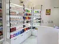 Стеллажи, витрины для магазина косметики. Торговое оборудование для косметики, парфюмерии. ТО-150