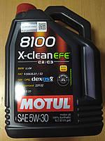 Синтетическое моторное масло MOTUL 5W30 8100 X-clean EFE (4л) MB 229.52; 814007 - Франция, фото 1