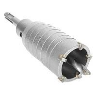 Комплект: свердло корончатое по бетону 40 мм+Перехідник SDS Plus 100мм INTERTOOL SD-7040