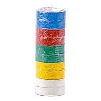Стрічка ізоляційна 0,15 мм x 17 мм x 10 м кольорова INTERTOOL IT-0014