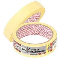 Лента малярная 30мм, 20м, желтая INTERTOOL DM-3020