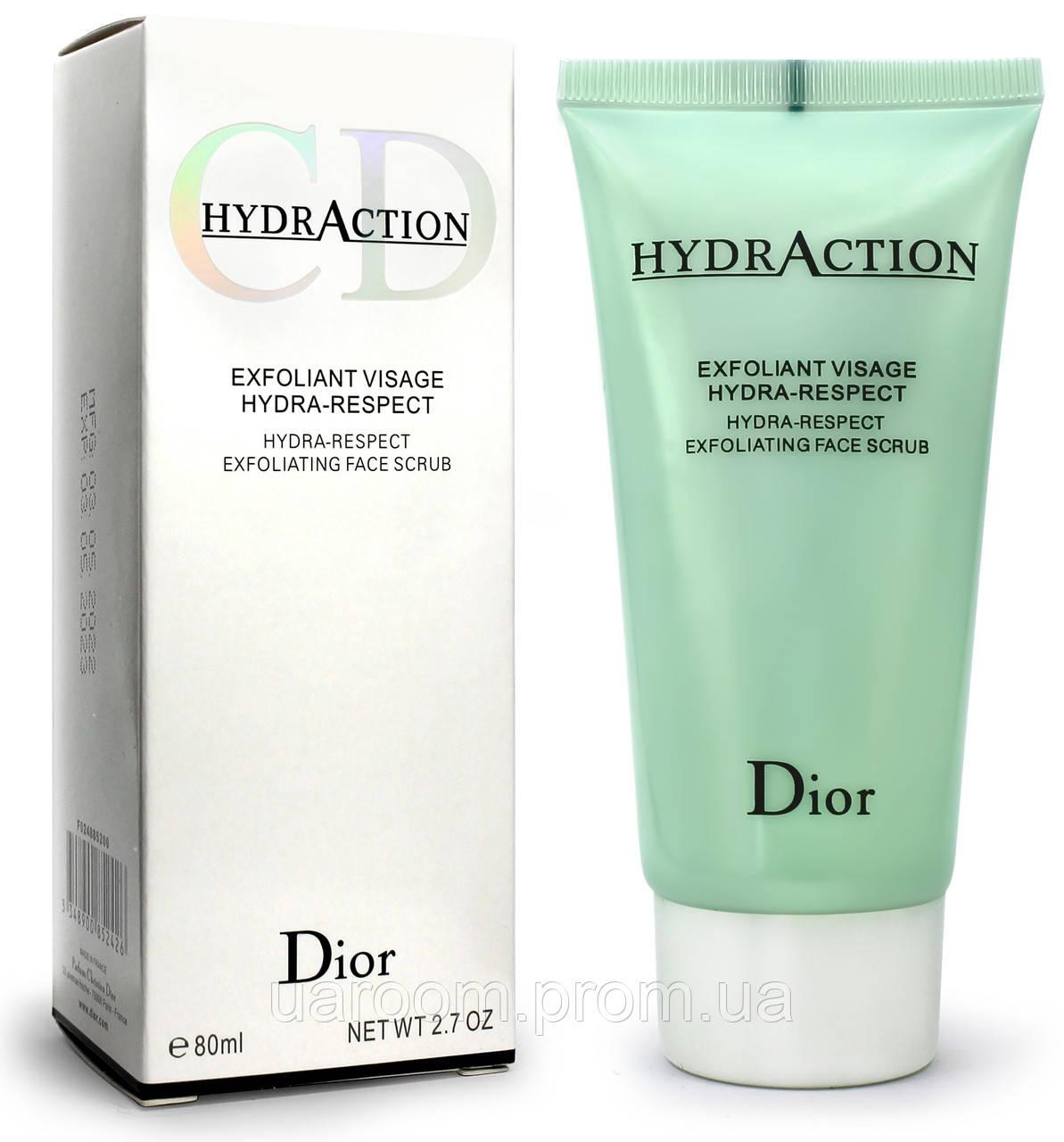 Гель-пілінг скатка для обличчя Dior HydrAction, 80 мл.(примята упаковка)