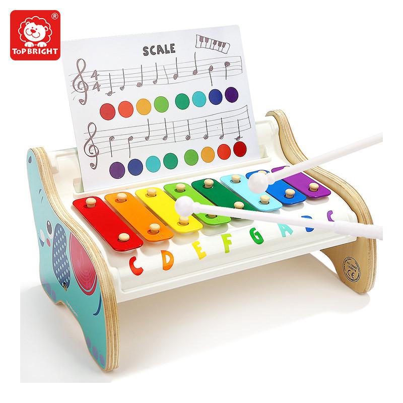 Деревянная игрушка Ксилофон слоненок с нотами, Top Bright