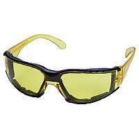Очки защитные c обтюратором Zoom anti-scratch, anti-fog (янтарь) SIGMA (9410861)
