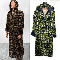 Махровые халаты для мальчиков Турция подросток милитари