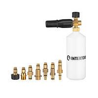 Насадка-піногенератор універсальна для мийок високого тиску, 1000 мл INTERTOOL DT-1536