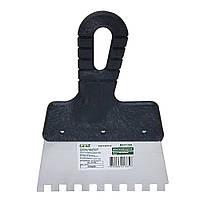 Шпатель зубчатый (нержавеющий) 150мм 8×8 GRAD (8321335)