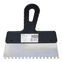 Шпатель зубчатый (нержавеющий) 200мм 6×6 GRAD (8321345)