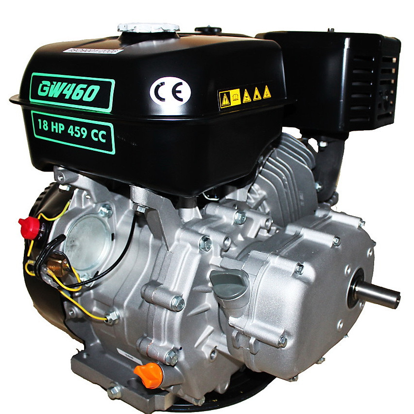 Двигатель бензиновый GrunWelt GW460F-S (CL) (центробежное сцепление, 18 л.с.)