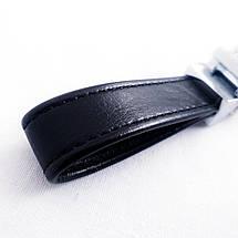 Брелок для ключей Dalaful, кожа, хромированный (Орёл) тяжелый надежный металлический, фото 2