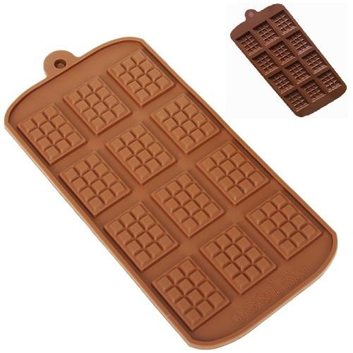 Форма силиконовая для конфет Плитка 6шт/л 23*11*0.5см