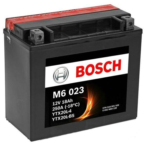Мото акумулятор сухозаряженный BOSCH 18Ah 250А